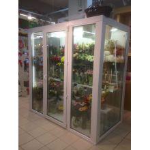 Камера для цветов с установкой стеллажей